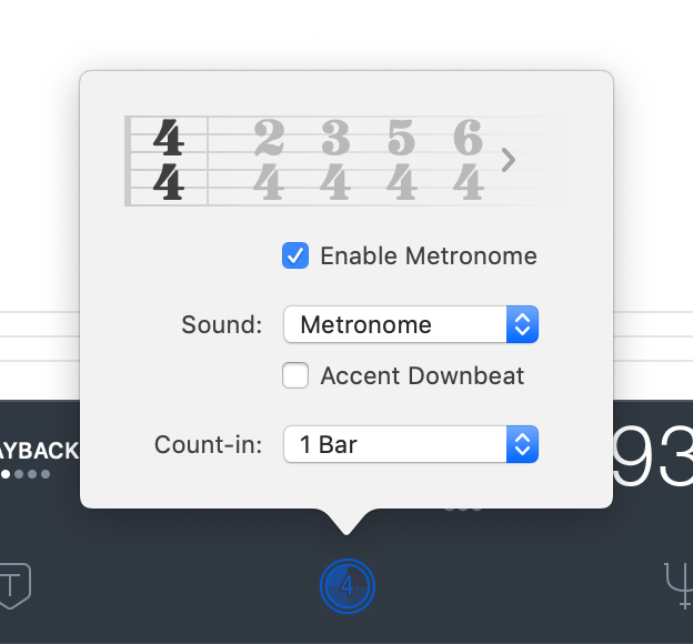 Mac metronome settings