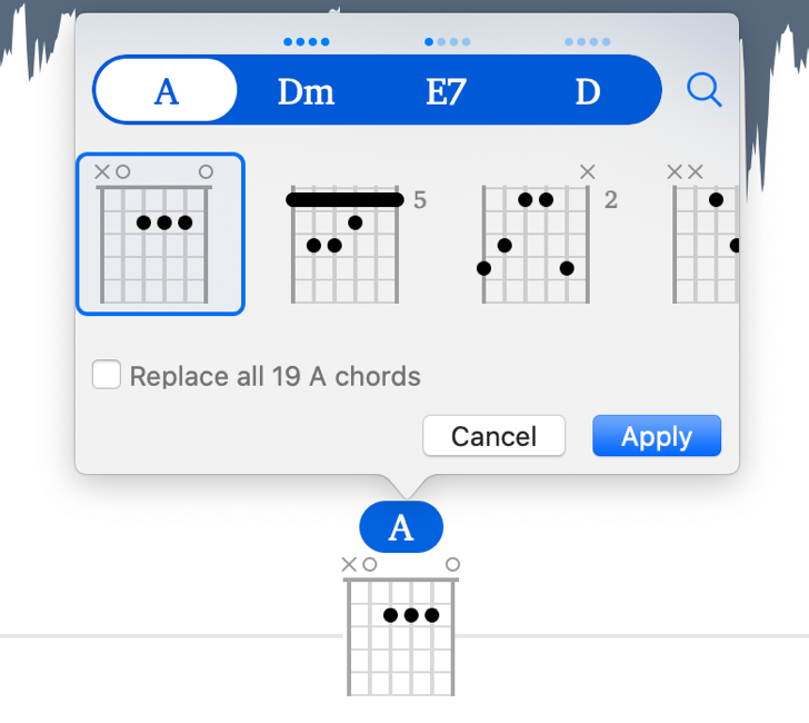 Mac choose chord